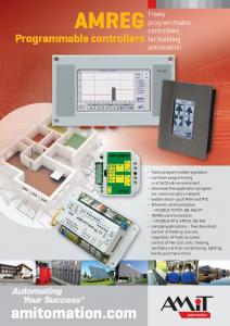 AMREG Programmable controllers - leaflet