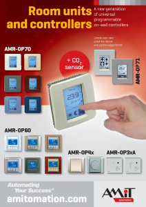 Room units and controllers - leaflet