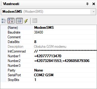 Objekt ModemSMS (DetStudio 2.0)