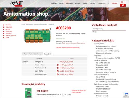 Webové objednávky firmy AMiT